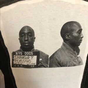 80s Guess x Tupac 2Pac Mugshot Custom Denim Jacket